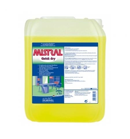 фото: Универсальный моющий концентрат Dr.Schnell Mistral QuickDry 10л, для водостойких поверхностей, 33841