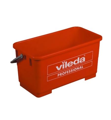 фото: Ведро Vileda Professional Эволюшн 22л, для мытья окон, красное, 500118