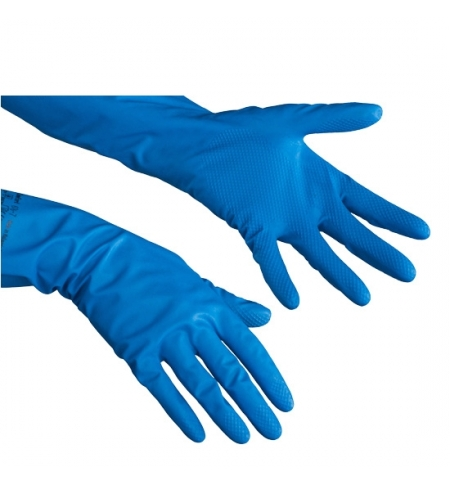фото: Перчатки нитриловые Vileda Professional голубые Комфорт, L, 148173
