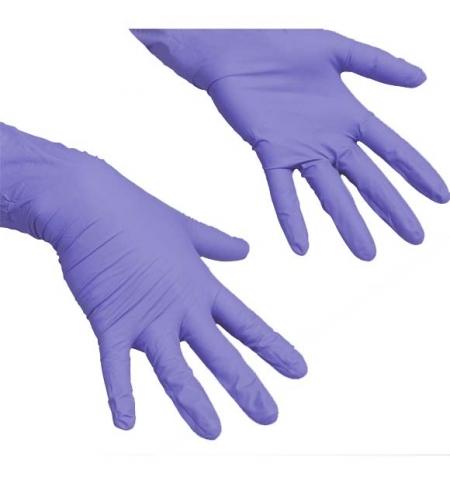 фото: Перчатки нитриловые Vileda Professional сиреневые ЛайтТафф, M, 1 шт, 137976