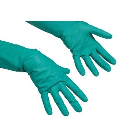 фото: Перчатки резиновые Vileda Professional зеленые универсальные, L, 100802