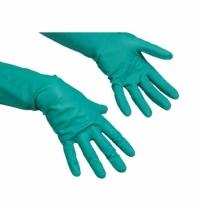 Перчатки резиновые Vileda Professional зеленые универсальные, S, 100800
