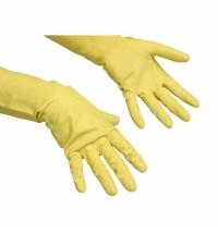 Перчатки резиновые Vileda Professional Контракт M, желтые, 101017
