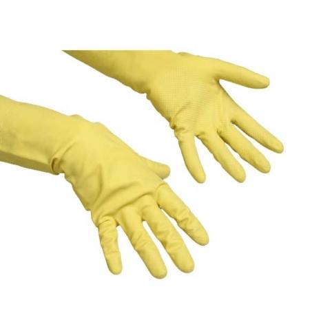 фото: Перчатки резиновые Vileda Professional Контракт M, желтые, 101017