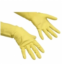 Перчатки резиновые Vileda Professional многоцелевые L, желтые, 100760