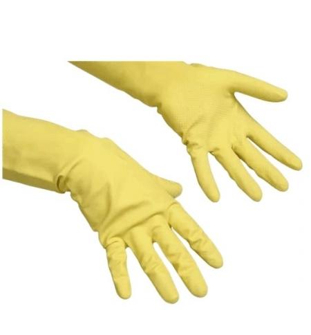 фото: Перчатки резиновые Vileda Professional многоцелевые L, желтые, 100760