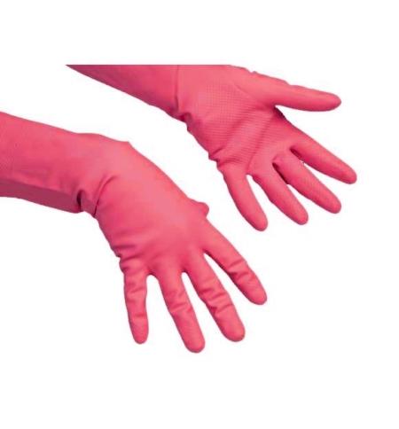 фото: Перчатки резиновые Vileda Professional многоцелевые L, красные, 100751