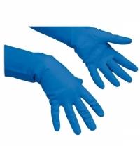Перчатки резиновые Vileda Professional многоцелевые XL, голубые, 102590