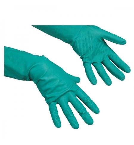 фото: Перчатки резиновые Vileda Professional универсальные р.M, зеленые, 100223