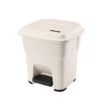 Контейнер для мусора Vileda Professional Гера 35л, с педалью и крышкой, бежевый, 137750