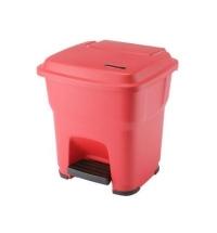 Контейнер для мусора Vileda Professional Гера 35л, с педалью и крышкой, красный, 137746/137678
