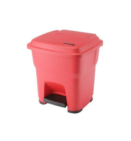 фото: Контейнер для мусора Vileda Professional Гера 35л, с педалью и крышкой, красный, 137746/137678