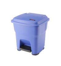 Контейнер для мусора Vileda Professional Гера 35л, с педалью и крышкой, синий, 137747