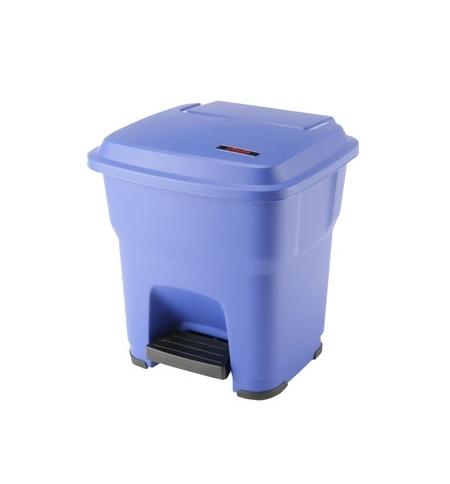фото: Контейнер для мусора Vileda Professional Гера 35л, с педалью и крышкой, синий, 137747