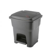 Контейнер для мусора Vileda Professional Гера 35л, с педалью и крышкой, черный, 137749
