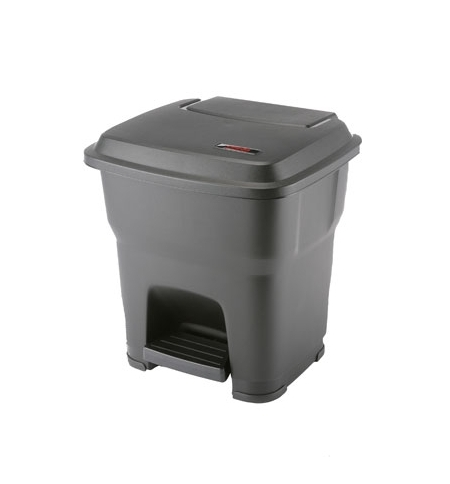 фото: Контейнер для мусора Vileda Professional Гера 35л, с педалью и крышкой, черный, 137749