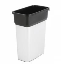 Контейнер для мусора Vileda Professional Гея 55л, средний, металл/черный, 137728
