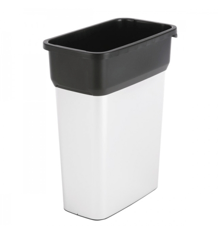 фото: Контейнер для мусора Vileda Professional Гея 55л, средний, металл/черный, 137728