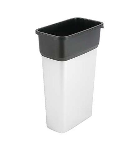 фото: Контейнер для мусора Vileda Professional Гея 70л, большой, металл/черный, 137729