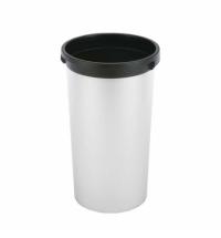 Контейнер для мусора Vileda Professional Ирис 50л, круглый, металл/черный, 137735
