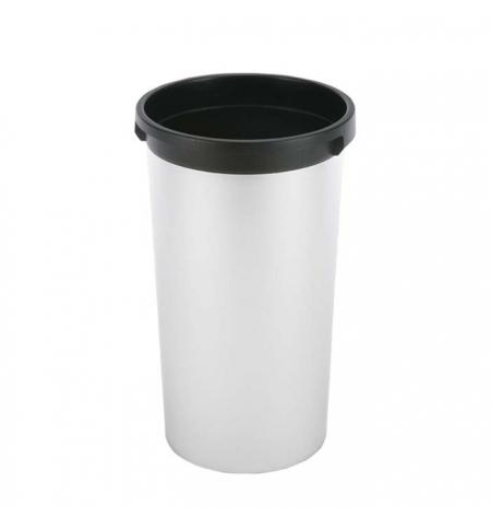 фото: Контейнер для мусора Vileda Professional Ирис 50л, круглый, металл/черный, 137735