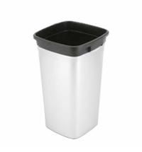 Контейнер для мусора Vileda Professional Ирис 60л, прямоугольный, металл/черный, 137741