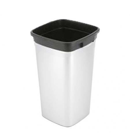 фото: Контейнер для мусора Vileda Professional Ирис 60л, прямоугольный, металл/черный, 137741