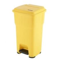 Контейнер для подгузников Vileda Professional Гера 60л, с педалью и крышкой, желтый, 137754
