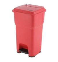 Контейнер для подгузников Vileda Professional Гера 60л, с педалью и крышкой, красный, 137752/137684