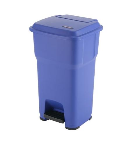 фото: Контейнер для подгузников Vileda Professional Гера 60л, с педалью и крышкой, синий, 137753