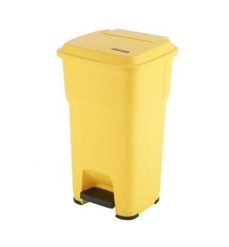 фото: Контейнер для подгузников Vileda Professional Гера 85л, с педалью и крышкой, желтый, 137760