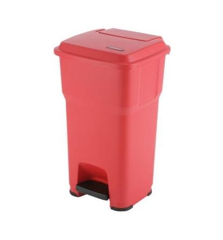 фото: Контейнер для подгузников Vileda Professional Гера 85л, с педалью и крышкой, красный, 137758