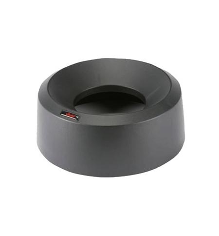 фото: Крышка для контейнера Vileda Professional Ирис 50л, воронкообразная, круглая, черная, 137736
