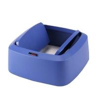 фото: Крышка для контейнера Vileda Professional Ирис 60л, маятник, прямоугольная, синяя, 137745