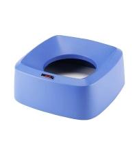 Крышки для мусорного контейнера Vileda Professional Ирис 60л, воронкообразная, прямоугольная, синяя,