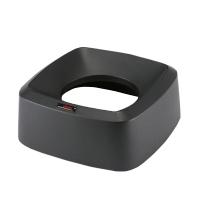 Крышки для мусорного контейнера Vileda Professional Ирис 60л, воронкообразная, прямоугольная, черная