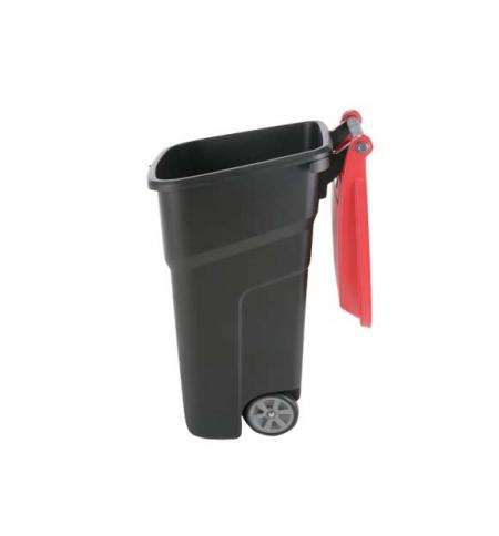 фото: Мусорный бак на колесах Vileda Professional Атлас 100л, черный, 137764