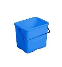 Ведро Vileda Professional 6л, прямоугольное, голубое, 500430
