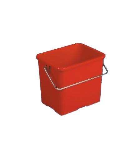 фото: Ведро Vileda Professional 6л, прямоугольное, красное, 500431