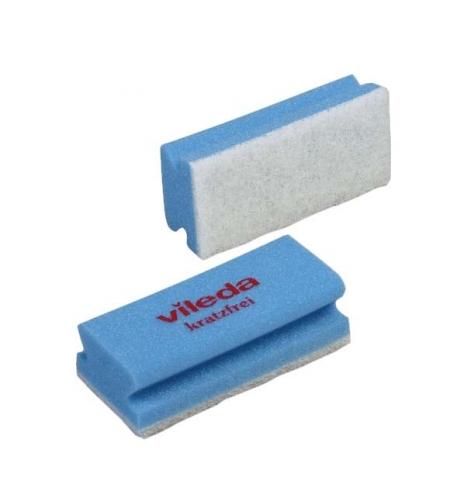 фото: Губка Vileda Professional Виледа 7х15см, мягкая, голубая, белый абразив, 102562