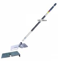 Швабра Vileda Professional Дуо Микро Плюс 100-180см, телескопическая, с насадкой МОП