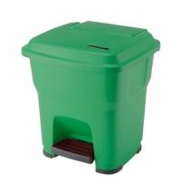 Контейнер для мусора Vileda Professional Гера 35л, с педалью и крышкой, с наклейками для сортировки,