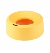 Крышка для контейнера Vileda Professional Ирис 50л, воронкообразная, круглая, желтая, 137740