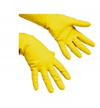 Перчатки резиновые Vileda Professional Надежный захват S, желтые, 101357