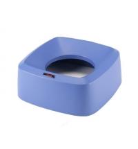 Крышка для мусорного контейнера Vileda Ирис воронкообразная, круглая, синяя, 137743